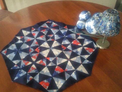 Kaleidoscope quilt block table top