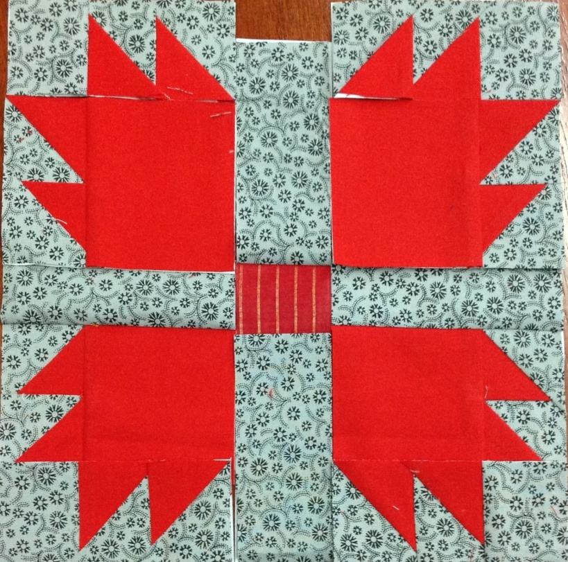 Block 43, just takes 2 quilt