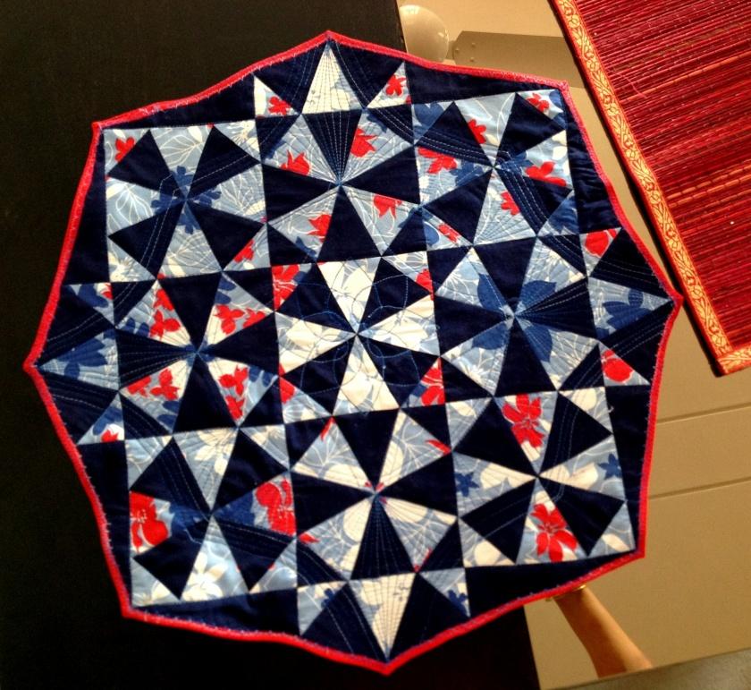 Table top - kaleidoscopic block