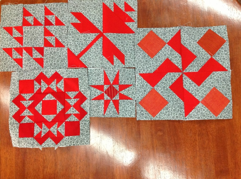 Blocks from Section B of justtakes2 quilt