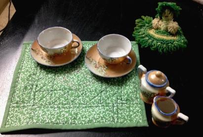 Amish style mini quilt