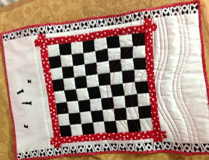 Sixteen 4-patches were used to make this chessboard.