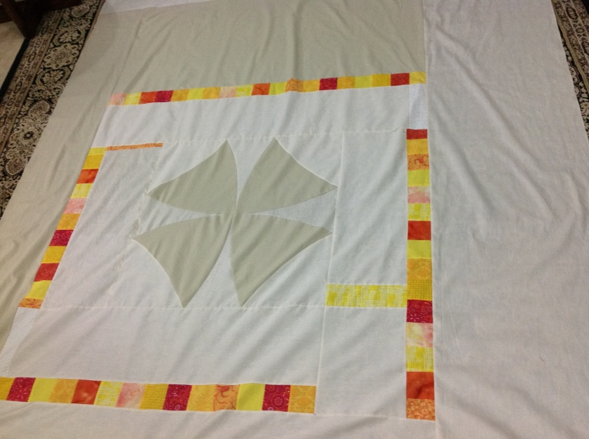 Giant winding ways pieced  block for back