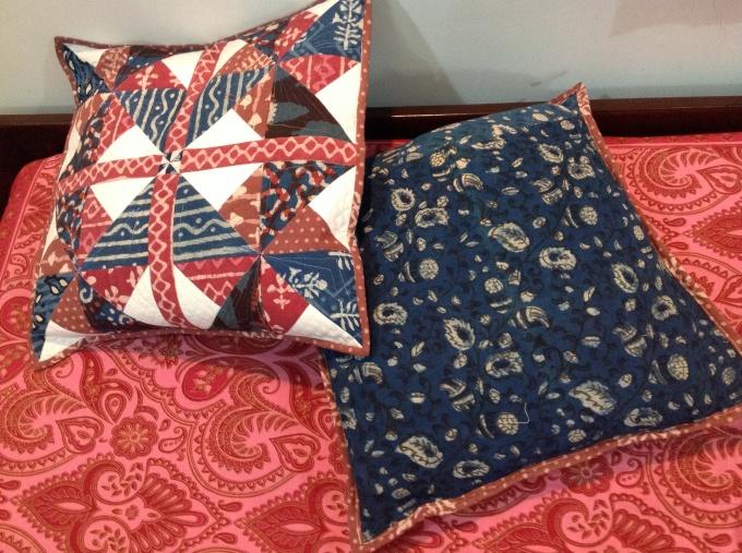 'Dabu' Hand block printed muslin back in indigo