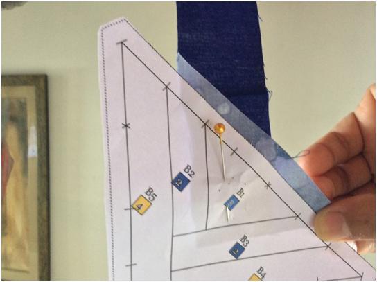 Card Trick Quilt Block Piecing 1