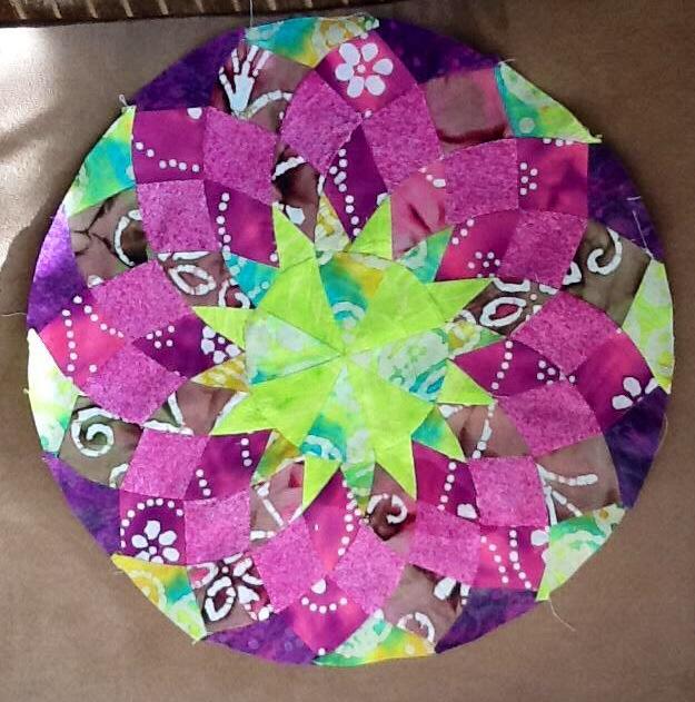 Anuradha ramesh - Lime and purple