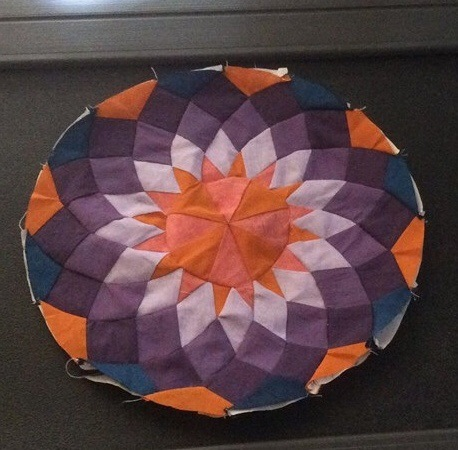 Devi Nair's purple and orange Dahlia