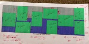 "9 Blocks arranged in a 30"" row"