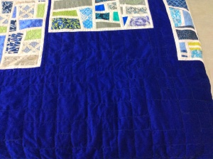 Quilting on the mod mosaic quilt