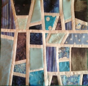 Mod Mosaic quilt block by Elizabeth Hartman