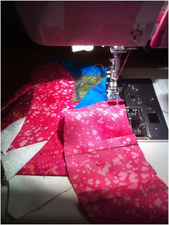 Easy Dahlia quilt block