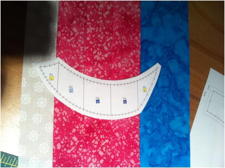 Easy Dahlia quilt block piecing