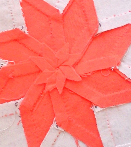 Eight point star - swirl centre seam