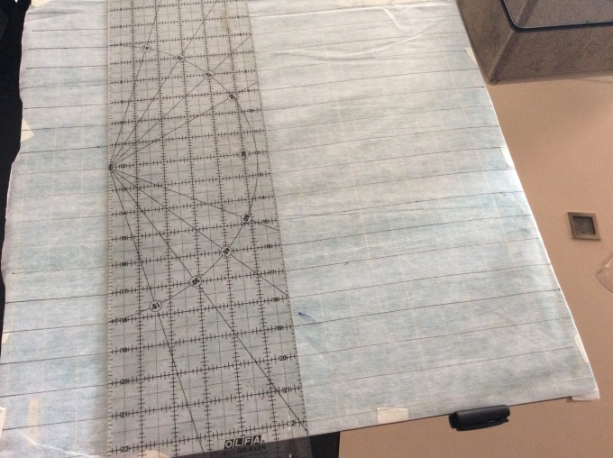 Draw perpendicular lines to get your inch grid.