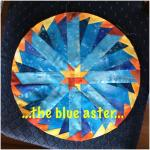 Round the Year Quilt Block 11 Blue Aster
