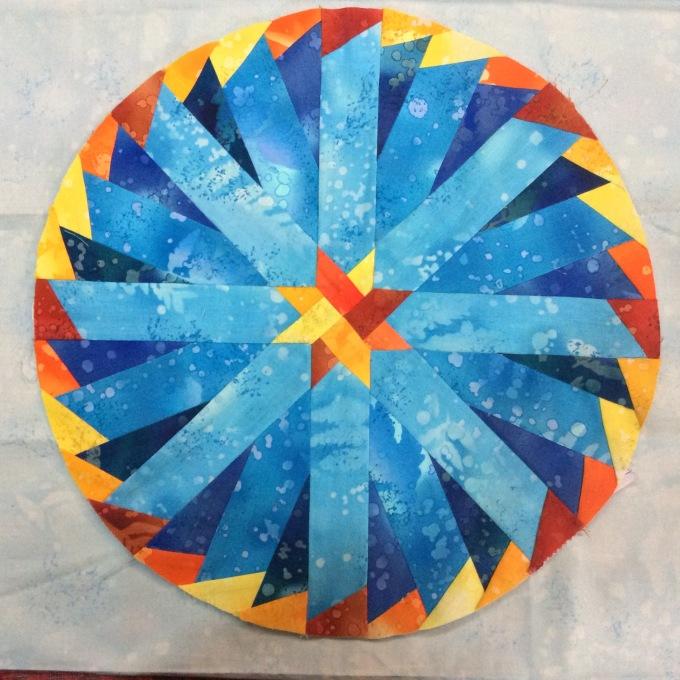 Blue Aster Quilt Block Round the Year Quilt Block 11