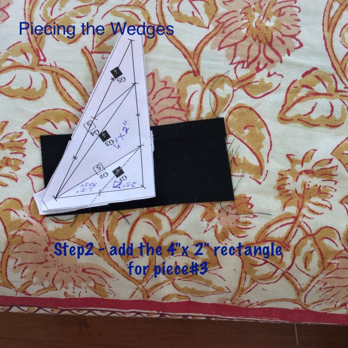 Align the corner of the rectangle to the busiest corner on the template!