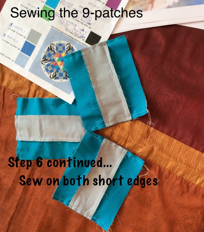 Sew on the shorter sides.