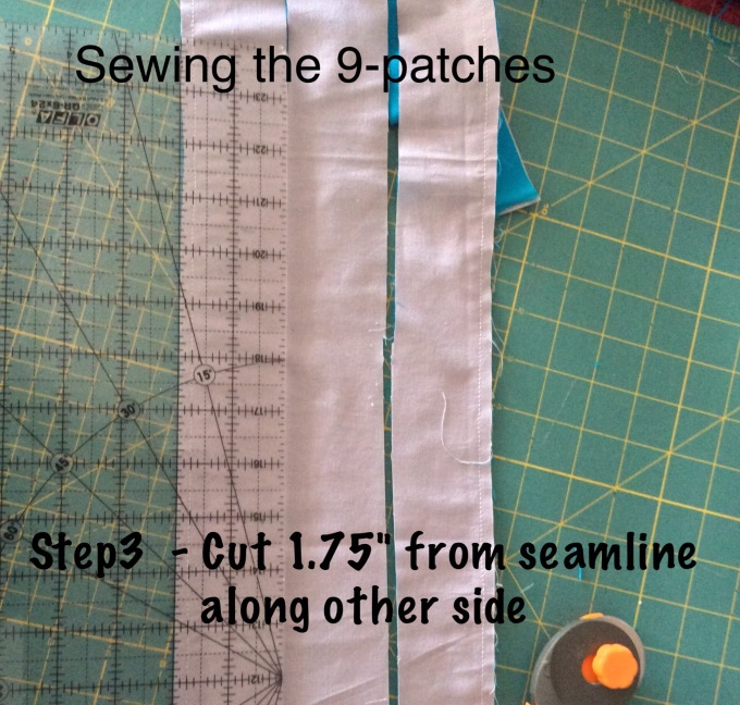 Similarly from the other seam!