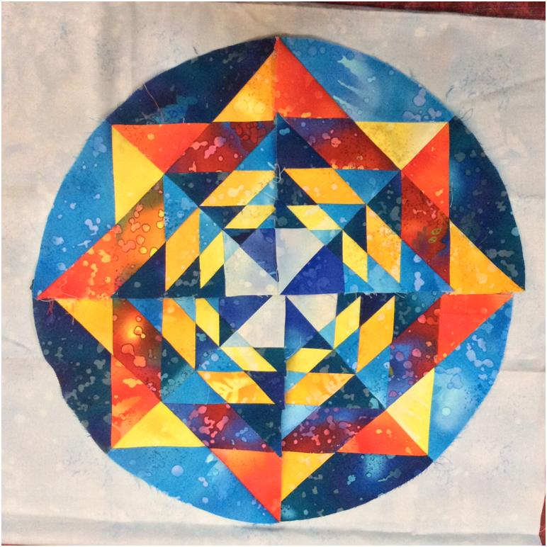 Block 14 ( Almost) Fractal Mandala, Round the Year Quilt