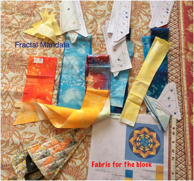 Fabric cut and sorted out