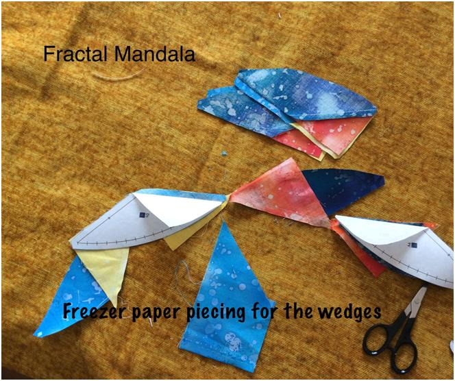 You can glue the two halves of the templates togeteher and piece them in one go!