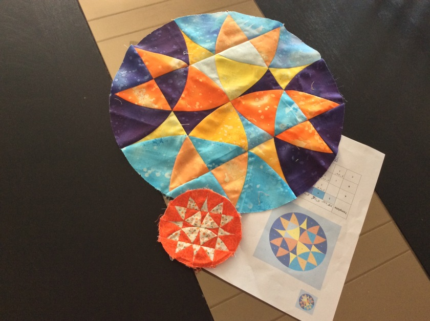 Block15 Winding Ways Wheel, Round the Year Quilt