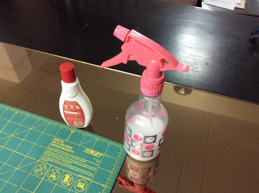 Your best friend when piecing - spray starch!