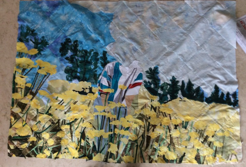 Background done, now for the quilting and final applique work