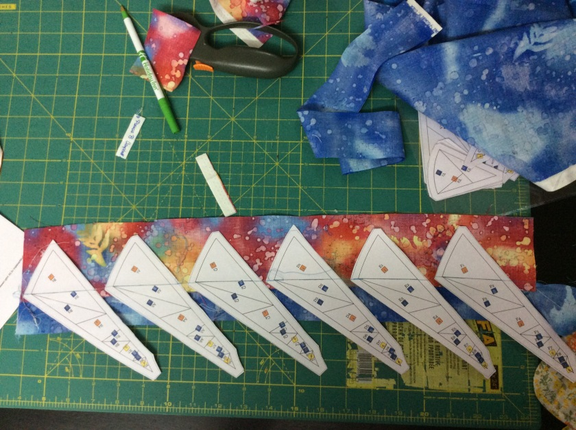 This shows Templates A to F ... first set of seams done!