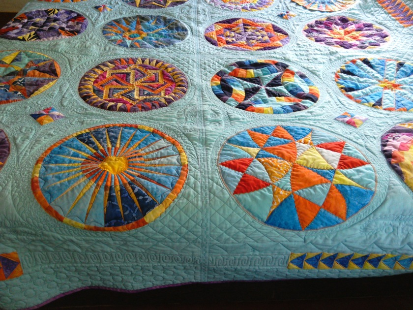 A closer look at the gorgeous quilting!
