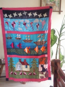 Kahsvi quilt- Almost done