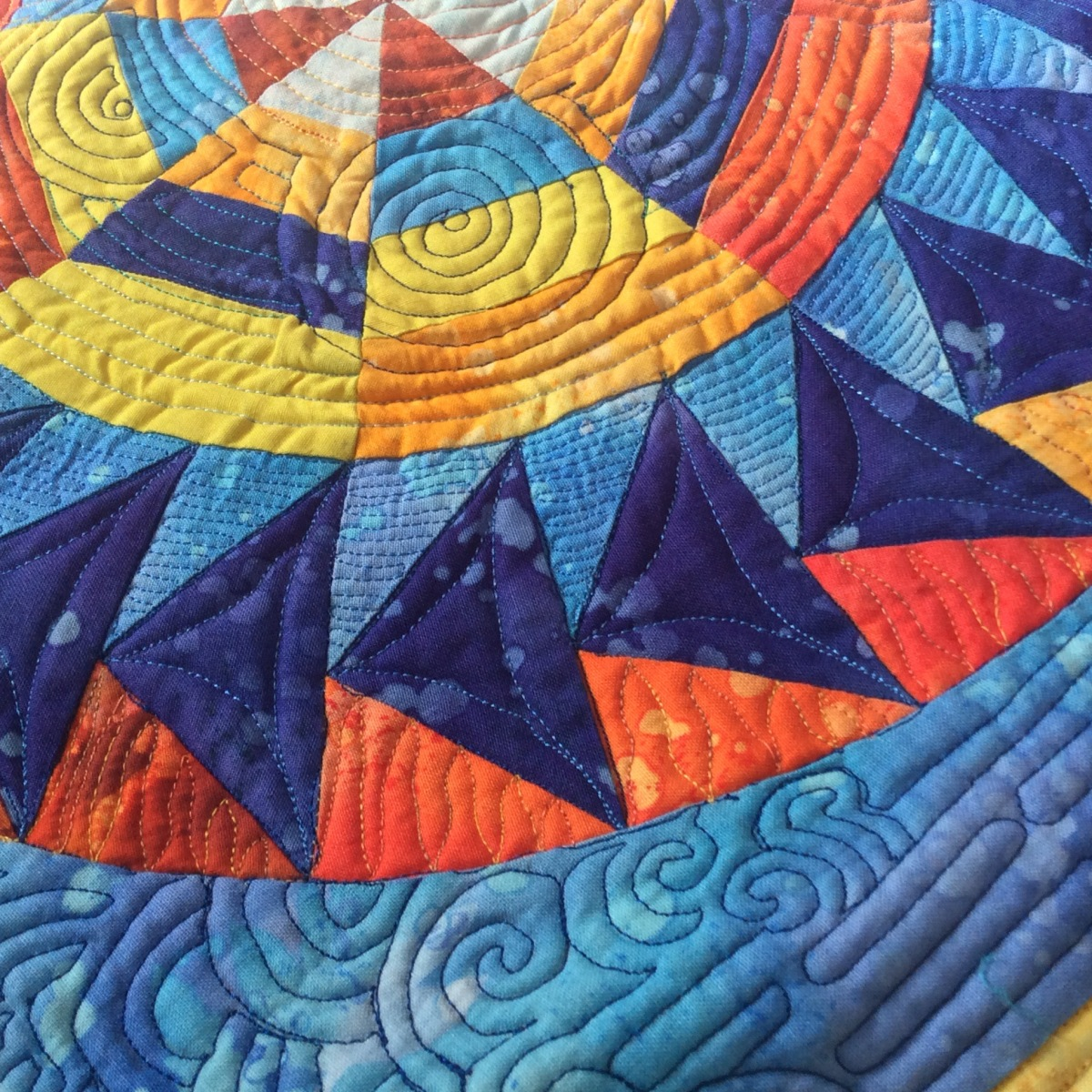 An Evening at the Pond… Block Two of the Dreamcatcher Round the YearQuilt