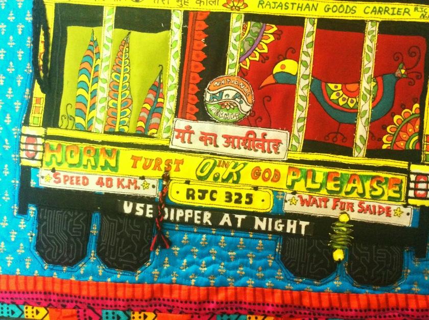 India truck art quilt