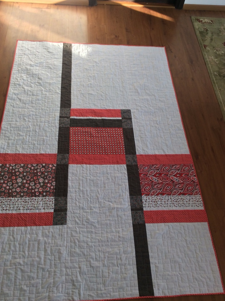 Cafeteria Line pattern modified - one of two quilts meant as gifts.