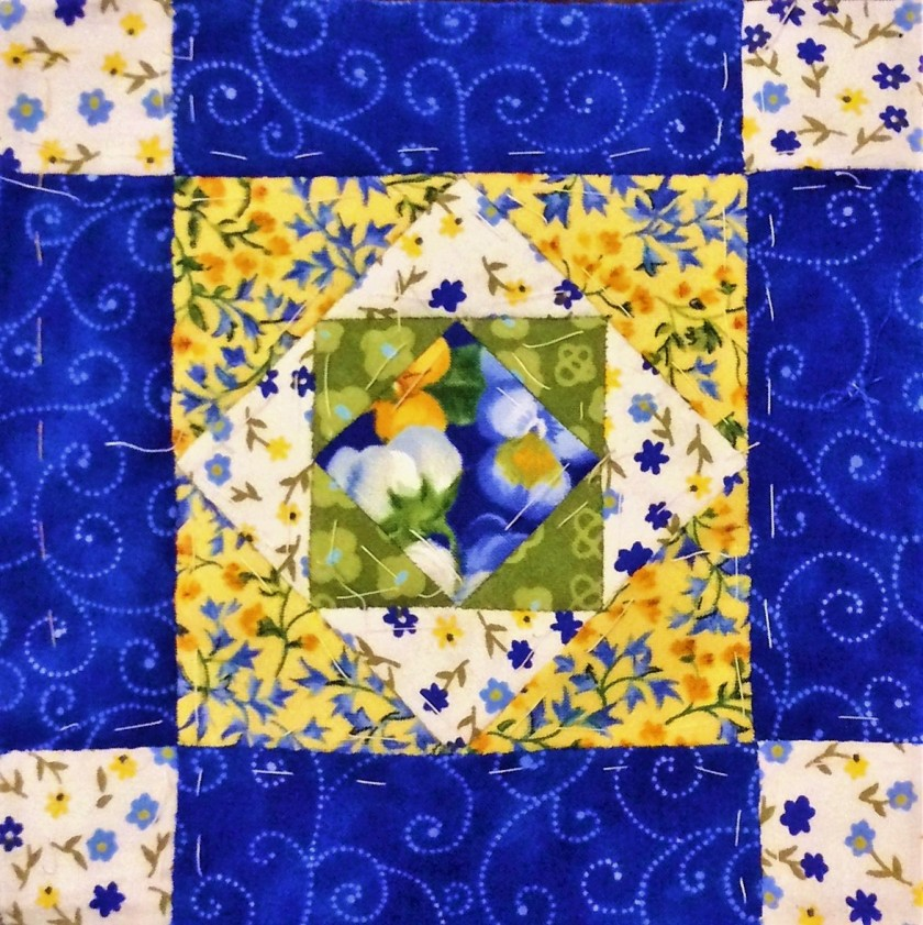 Salinda Rupp Quilt Nearly Insane by patchworkofmylife Block 2