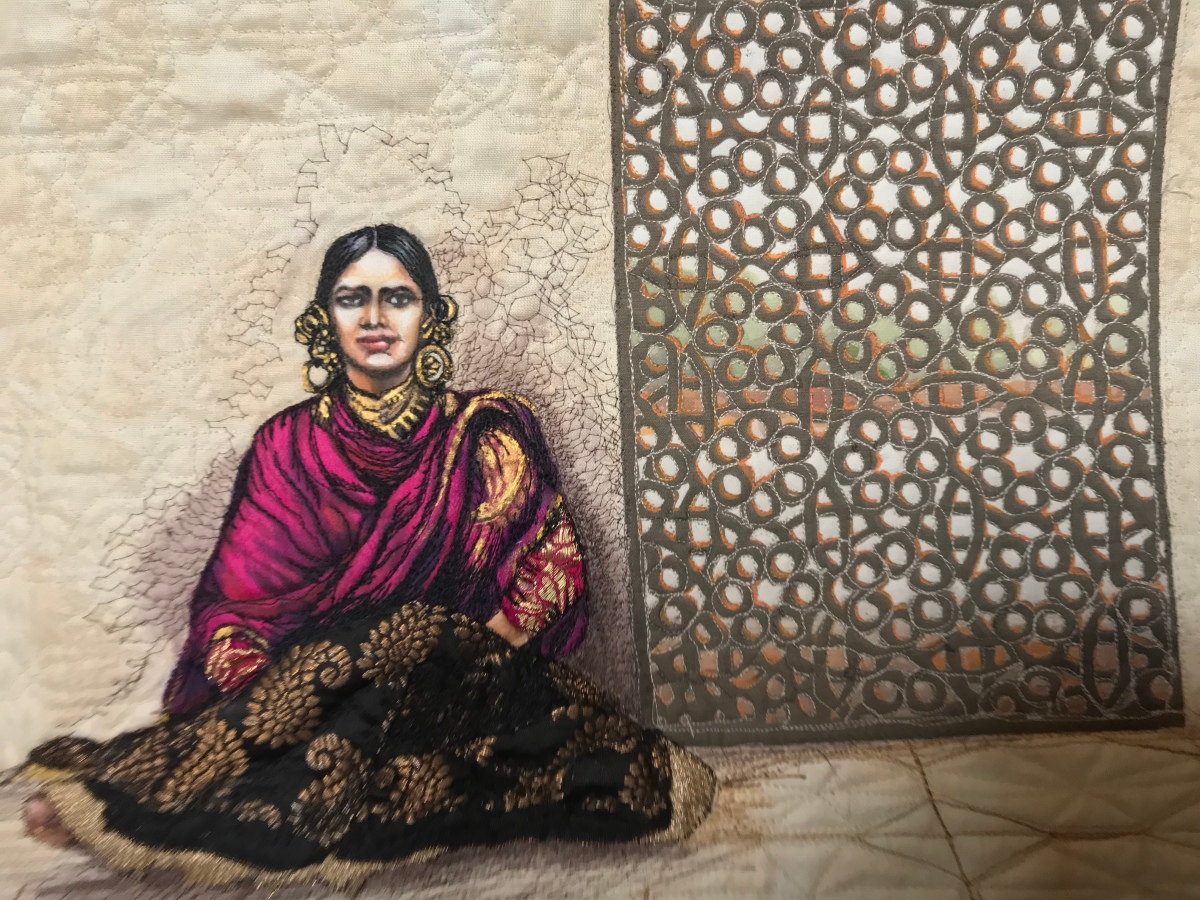 The Baroda Bayadére: A Painted and Quilted MiniaturePortrait